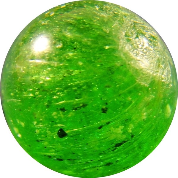 Green Glass Marble : Handmade marbles not otherwise categorized